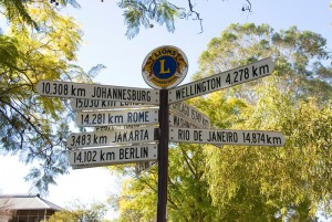 Alice Springs Mile Sign
